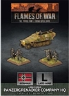 Flames of War - GBX168 Panzergrenadier HQ Company plastic
