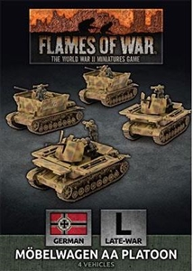 Flames of War - GBX174 Mobelwagen 3.7cm AA Tank Platton (x4)