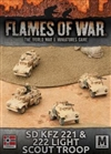 Flames of War - Afrika Korps SdKfz 221 & 222 Light Scout Troop