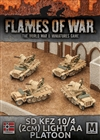Flames of War - Afrika Korps SdKfz 10/4 (2cm) Light AA Platoon