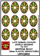 Little Big Men Studios - Gripping Beast Plastic Late Roman Cavalry Shield Designs 1