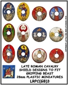 Little Big Men Studios - Gripping Beast Plastic Late Roman Cavalry Shield Designs 3