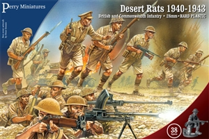 Perry Miniatures - WW2 Desert Rats (8th Army) TWO BOXES