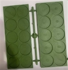 Renedra Gaming Aids - Movement Trays (4) 2x5 25mm round inset