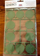 Renedra Bases - 40mm ROUND Bases - 10 bases per bag