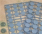 Renedra Bases - Stone Paving Round Bases 25mm Diameter - 52 bases per bag GREY