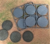 Renedra Bases - Stone Paving Round Bases 60mm Diameter - 8 bases per bag GREY