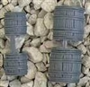 Renedra Terrain - Barrels - Grey  5 large and 5 small per bag