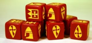 Saga - RED DICE - Norman / Breton / Franks / Byzantine (8)