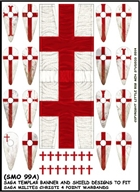 SAGA Age of Crusades - LBMS Templar Banner and Shield Transfers - Milites Christi (A)