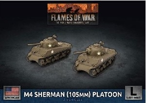 Flames of War - UBX71 M4 Sherman (105mm) Assault Gun Platoon Plastic