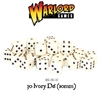Warlord Games  - 30 Ivory Dice (10mm)
