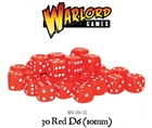 Warlord Games  - 30 Red Dice (10mm)