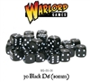 Warlord Games  - 30 Black Dice (10mm)