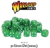 Warlord Games  - 30 Green Dice (10mm)