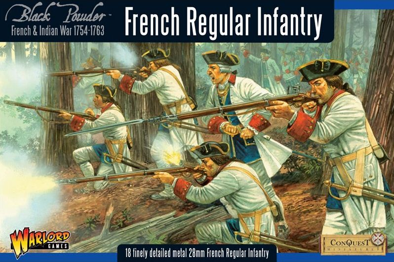 warlord games french indian war 17541763 french