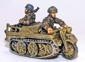 Bolt Action - Fallschirmjager Kettenkrad Halftrack