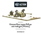 Bolt Action - German Heer 75mm Pak 40 Anti-Tank Gun Winter