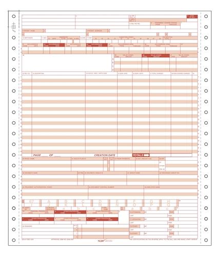 UB-04 Hospital Claim Form 1-Part Continuous on medical billing procedure code, medical billing certificate, medical billing service,