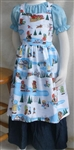 Girl Kitchen Apron Wintertime Fun size 5 6 7
