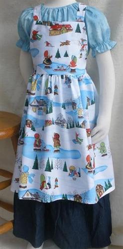 Girl Kitchen Apron Wintertime Fun Size M 810-1003