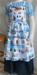 Girl Kitchen Apron Wintertime Fun size 2 3 4