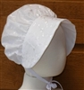 Custom Toddler or Girl White Eyelet Bonnet