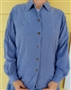Ladies Princess Blouse preowned Crushed Cotton Natural size 10 12