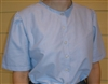 Ladies Classic Blouse Sky Blue Oxford cotton size 10