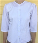 Ladies Classic Blouse Rebecca White Embroidered cotton size 10