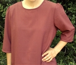 Ladies Blouse Slip-on Spice Brown polyester size 16