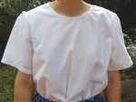 Ladies Blouse Slip-on White Oxford cotton poly blend size 16