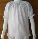 Girl Peasant Blouse with Ruffle Hem all sizes & colors