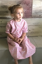 Girl Classic Dress Cheery Pink floral cotton size 10 X -long