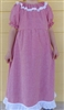 Girl Peasant Dress Peach Butterflies Seersucker size 5 X-long
