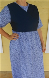 Ladies Nursing Maternity Dress with attached Vest size L 14 16