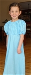 Girl Regency Dress Embossed Daisy Aqua Blue Floral size XL 14 16