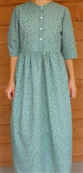 Ladies Classic Dress Green Floral poly/cotton size 18