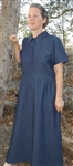 Ladies Dress Classic Button Front  in Denim, Linen all sizes