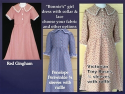 "Girl Classic Cotton ""Bonnie's"" Dress all sizes"