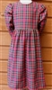 Girl Classic Zipper Dress Gathered Skirt & Long Sleeves all sizes