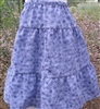 Girl Tiered Skirt Penelope Periwinkle Blue Floral size M 8 10