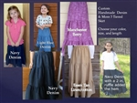 Girl Tiered Skirt in Denim or Linen blends all sizes