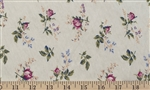 Blooming Rose Floral Cotton Knit Fabric by the yard