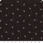 Wayside Black & Silver cotton Fabric 1/2 yard