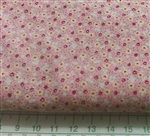 Spring Garden pink floral Sevenberry cotton Fabric 1/2 yard