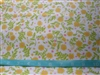 Yellow Floral cotton Flannel Fabric 1/2 yard
