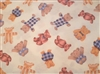 Teddy Bears Cotton Knit Fabric by the yard