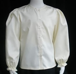 Girl Blouse Classic Ivory Sateen cotton size 6