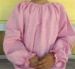 Girl Blouse Peasant Bubblegum Pink seersucker size 5